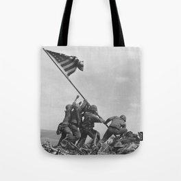 Iwo Jima Flag World War 2 Vintage Tote Bag