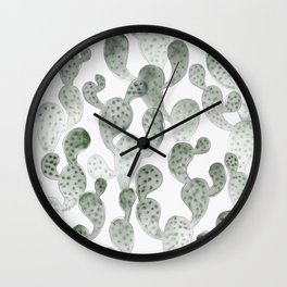 TRYPOPHOBIA, cactus pattern by Frank-Joseph Wall Clock