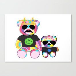 Rainbow bears Canvas Print