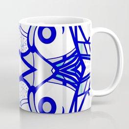 Blue morning - abstract decorative pattern Coffee Mug