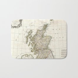 Vintage Map of Scotland (1772) Bath Mat