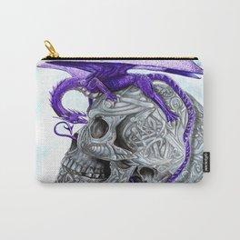 Secret's untolds- purple dragon on celtic skull Carry-All Pouch