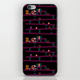 Donkey Kong Retro Arcade Gaming Design iPhone Skin
