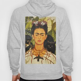 Frida Kahlo Self-Portrait Thorn Necklace and Hummingbird Hoody