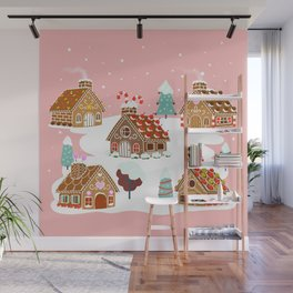 Gingerbread Village Wall Mural