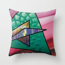 Angles of Nature ~ Design 02 Glass Throw Pillow