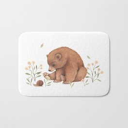 Spring Bear Bath Mat