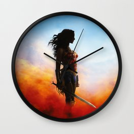 fighter woman Wall Clock