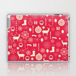 White Objects Christmas Pattern Laptop & iPad Skin