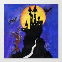 Haloween Castle Canvas Print