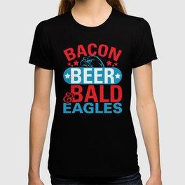 Bacon Beer Bald Eagles T-shirt