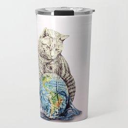 In which our feline deity shows restraint  Travel Mug