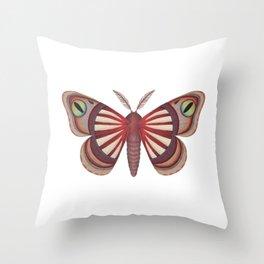 demon (made up moth) Throw Pillow