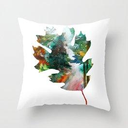 Autumn Leaf Art Throw Pillow