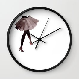 High heels - watercolor illustration Wall Clock