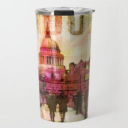 London St. Pauls Cathedral Modern Mixed Media Travel Mug