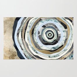 Wood Slice Abstract Rug