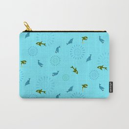Blue Dolphin and Orca Carry-All Pouch