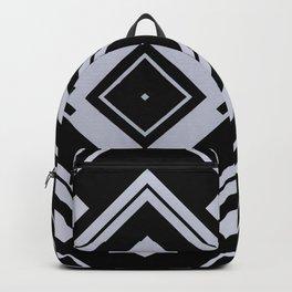 Black and White Tribal Pattern Diamond Shapes Geometric Geometry Contrast II Backpack