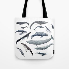 Whales all around Tote Bag
