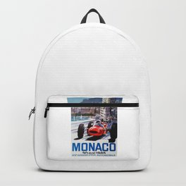 Grand Prix Monaco, 1965, vintage poster, race poster Backpack