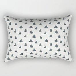 Geometrical black white hand painted watercolor triangles Rectangular Pillow
