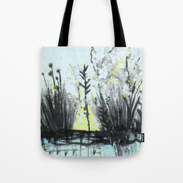 Cattails in the grass Tote Bag