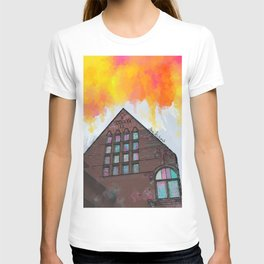 awkward building T-shirt
