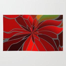 Abstract Poinsettia Rug