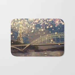 Love Wish Lanterns over Paris Bath Mat