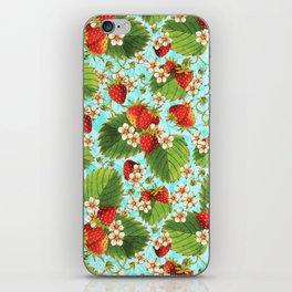 Botanical Strawberries iPhone Skin
