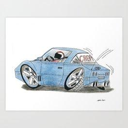 1985 Chevy Corvette Art Print