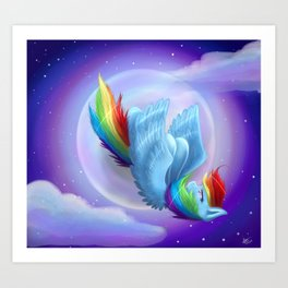 Rainbow Dash Falling Art Print