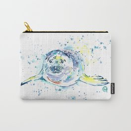 Harbour Seal Watercolor Painting - Emil Carry-All Pouch