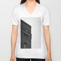 brooklyn V-neck T-shirts featuring Brooklyn by Gold Street Photography
