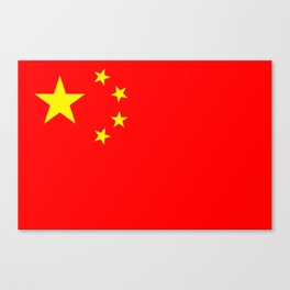 Chinese Flag Sticker & More Canvas Print
