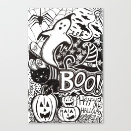 Boo! Happy Halloween! Canvas Print