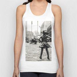 Fearless Girl & Bull - NYC Unisex Tank Top