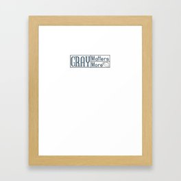 Gray Matters More Modern Logo 2 Framed Art Print