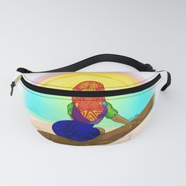 Kuna girl watching the sunset Fanny Pack