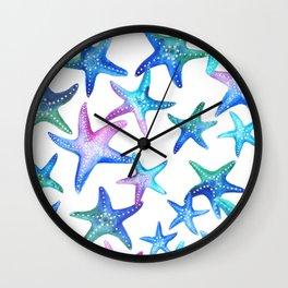 Watercolor Starfish Wall Clock