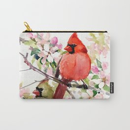 Cardinal Birds and Spring Carry-All Pouch
