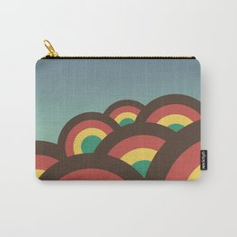 Foothills on warm blue - 70´s Carry-All Pouch