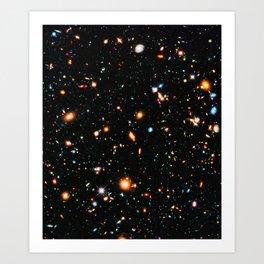 Hubble Extreme-Deep Field Art Print