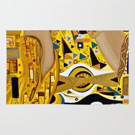Ode to Klimt - Detail Portrait of Adele Rug
