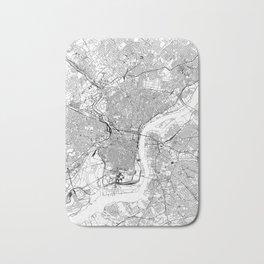 Philadelphia White Map Bath Mat