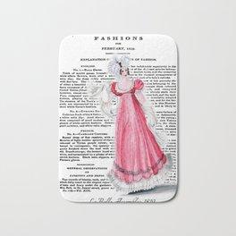 Regency Fashion Plate 1819, La Belle Assemblee Bath Mat