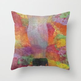 Feelings in the spring Throw Pillow