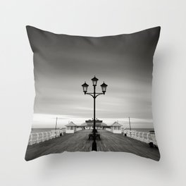 Cromer Pier - Winters Day Throw Pillow
