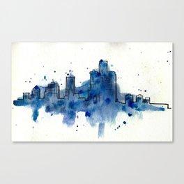 Going Downtown: Detroit Canvas Print